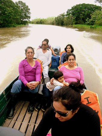 Boat ride to see animals in the wild with Curassow Amazon Lodge.