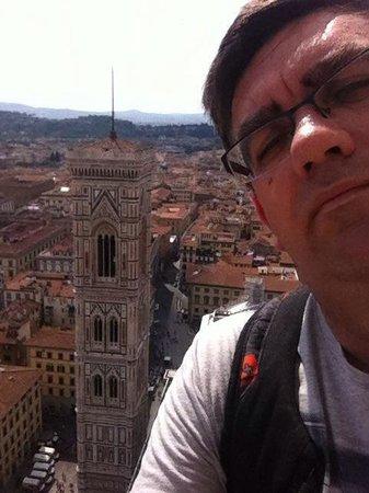 Cupola del Brunelleschi: Desde lo alto de la cúpula, vista del Campanile