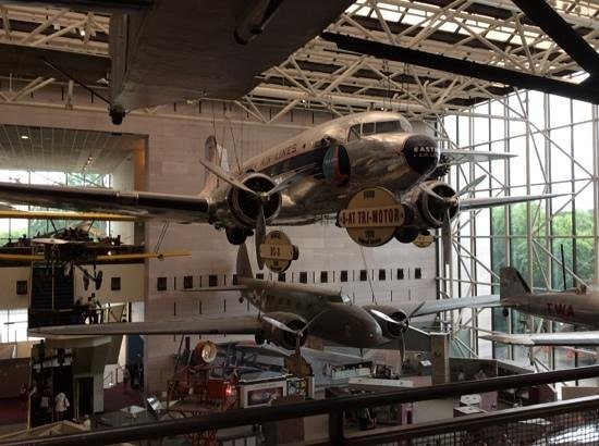National Air and Space Museum : one of the many planes on display.