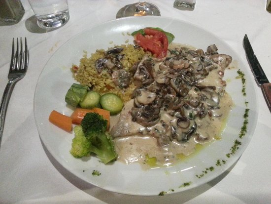 Oroscopo : Veal with a parmesan cheese sauce; Yum!