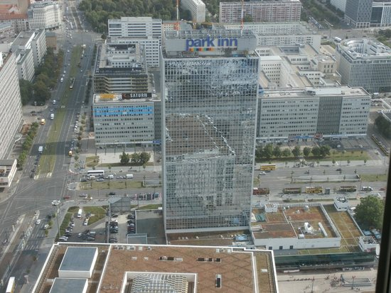 Park Inn by Radisson Berlin Alexanderplatz : View of Park Inn from the TV Tower
