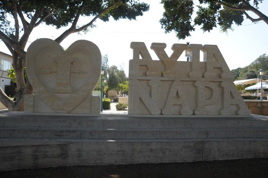 ‪I Love Ayia Napa Sculpture‬