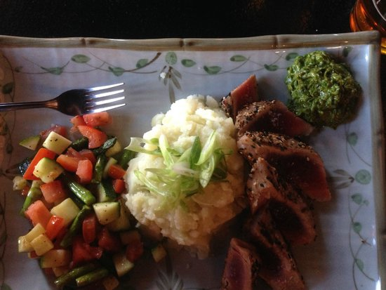 The Asian Palate: Pan-seared tuna with wasabi mashed potatoes