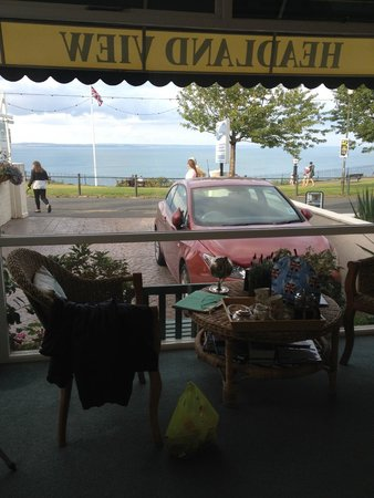 Headland View: View from the sunroom, where we had tea upon arrival