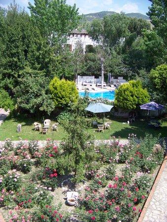window view from rear building, Hotel Kalehan, Selcuk, Turkey