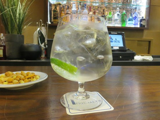 Hotel Preciados: A guantlet of a gin and tonic at the hotel bar!