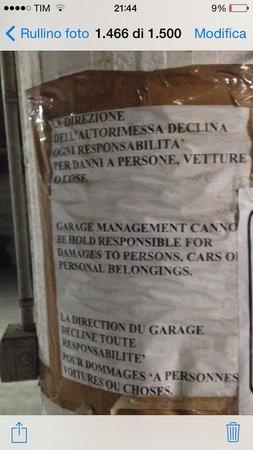 Hotel Cosmomare : Garage custodito a pagamento.....