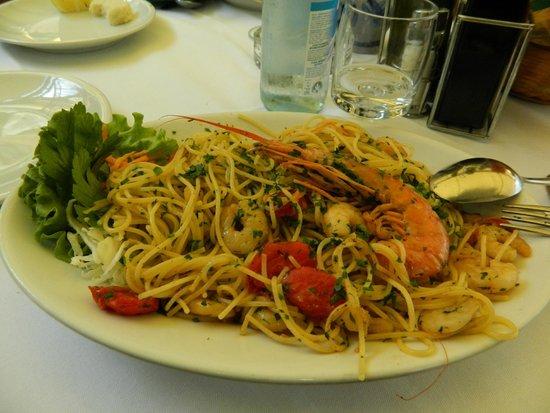 Mignon : Spaghetti ai gamberoni