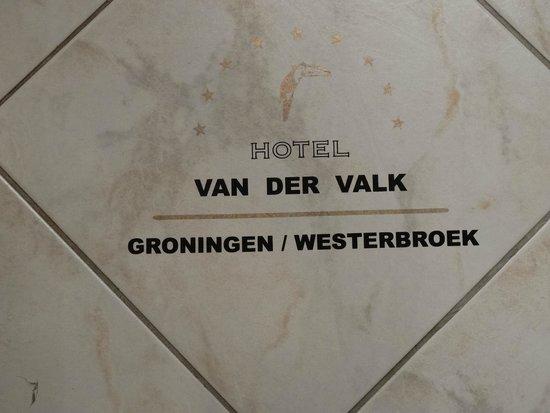 Van der Valk Hotel Groningen Westerbroek: Dit vond ik zo leuk, een tegel in de badkamer