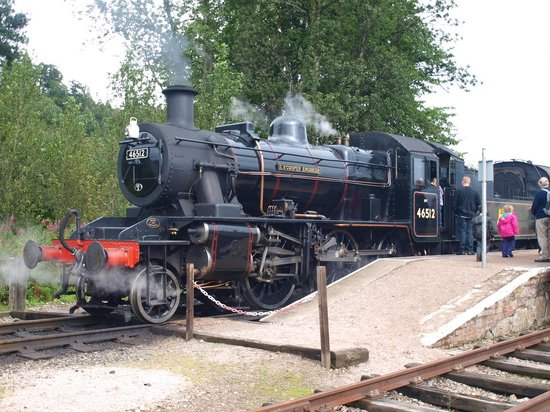 Strathspey Railway: Ivatt Mogul ready to depart for Aviemore