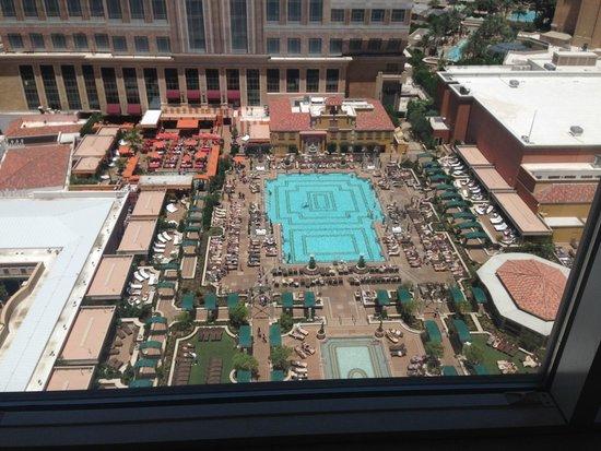 Venetian Resort Hotel Casino: View of pool from room