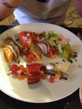 Arbequina : Suggestion du jour aux anchois en entrée