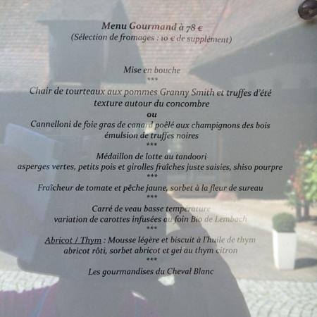 Auberge du Cheval Blanc: Unser Menü