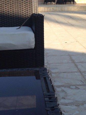 "Pavillon Winter Luxor: Closer shot of the furniture of the ""bar"""