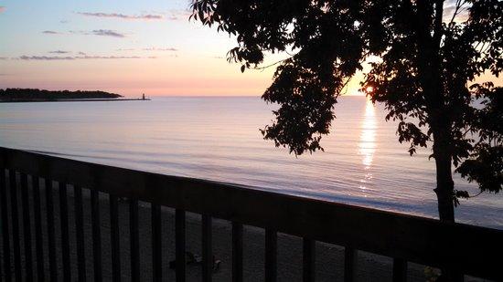 Algoma Beach Motel sunrise from our room balcony