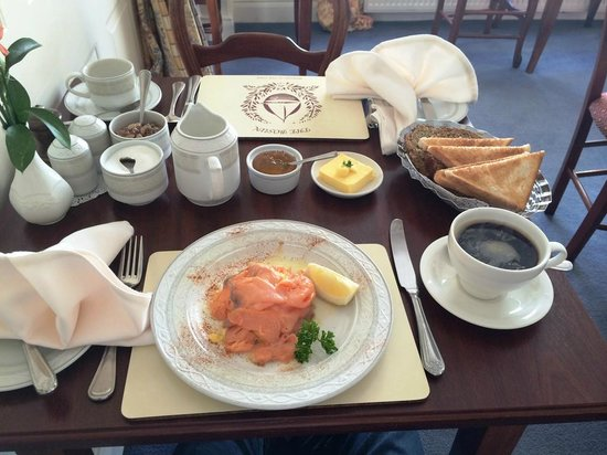 The Bosun: Scrambled eggs with salmon.