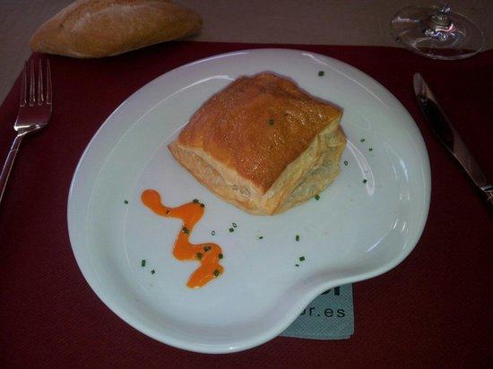 El Comedor: Hojaldre de crema de setas
