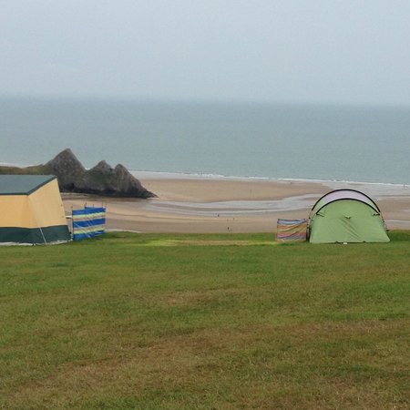 Three Cliffs Bay Holiday Park : View from campsite