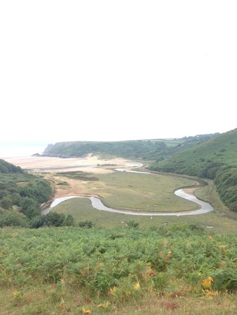 Three Cliffs Bay Holiday Park: View of the bay