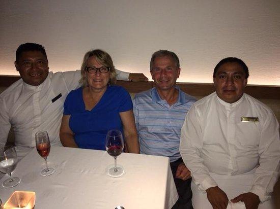 Nebbiolo Ristorante: Our new friends - Manuel & Miguel