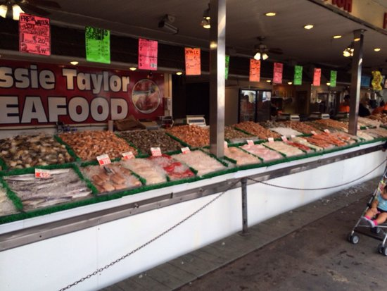 Rows and rows of anything your heart desires picture of for Washington dc fish market