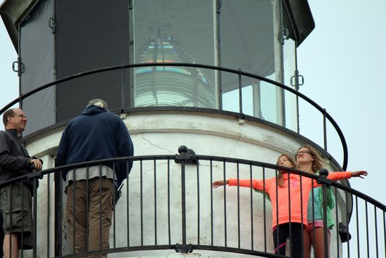 Cana Island Lighthouse: It's a long way up and even longer way down.