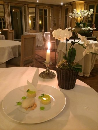 Chateau La Cheneviere: Succulent dessert au citron.