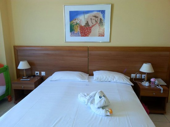 Contessa Hotel: Dog towel from the cleaning ladies......