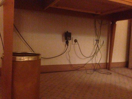 Sheraton Zagreb Hotel: Kablar under skrivbord
