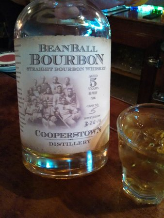 The Lake House Restaurant and Lodge: local @CooperstownDistilling Beanball Bourbon