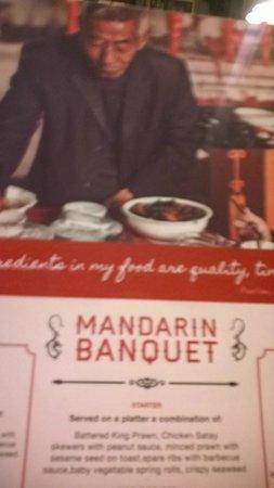 Michael Wan's Mandarin Cantonese Restaurant : Menu