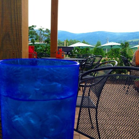 Blue Mountain Brewery: Our view from the patio.