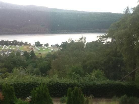 The Craigdarroch Inn: view of the Loch over the Caravan Park!