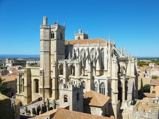 Donjon Gilles Aycelin : La cathédrale vue du haut du donjon