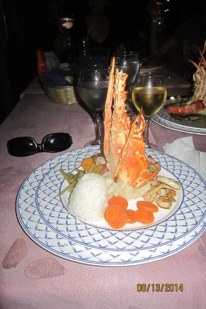 Hotel Playa Coco : Lobster and shrimp at Seafood A La Carte Restaurant