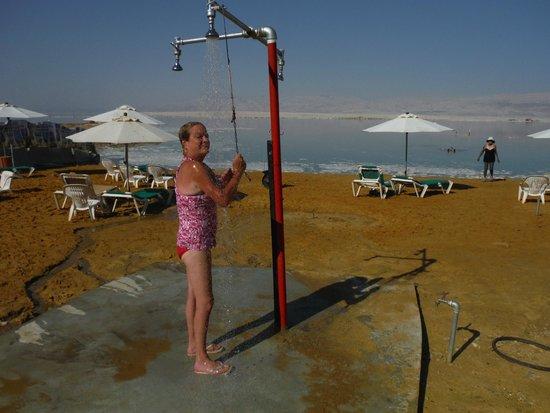 David Dead Sea Resort & Spa: Dead Sea Shower