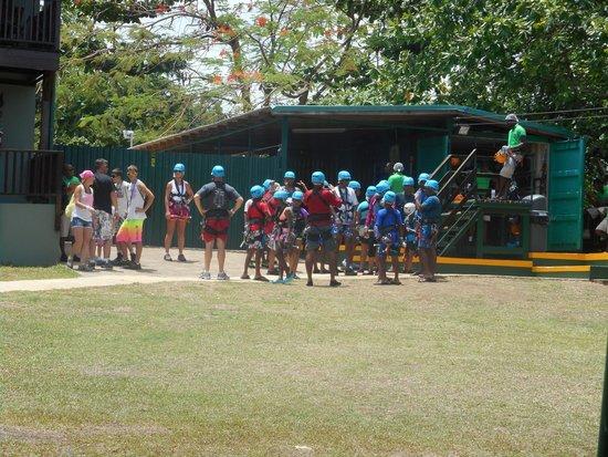 Rainforest Adventures Jamaica: Zip-line prep