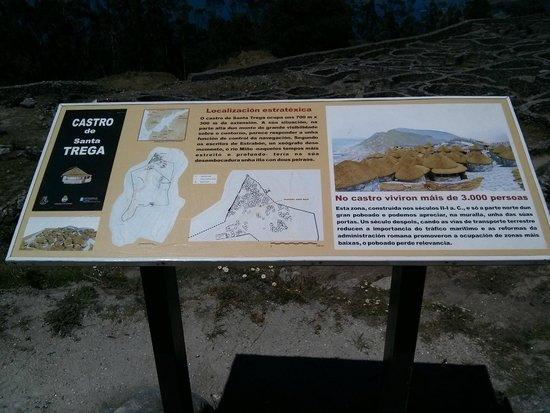 Poblado celta de Santa Tecla: Information board