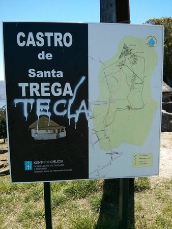Poblado celta de Santa Tecla: Map