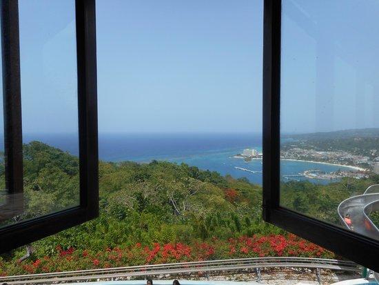 Rainforest Adventures Jamaica: View from restaurant