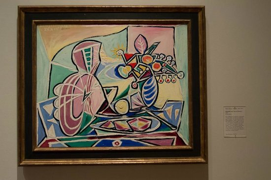 Saint Louis Art Museum: Picasso - Mandolin and The Vase of Flowers - 1934