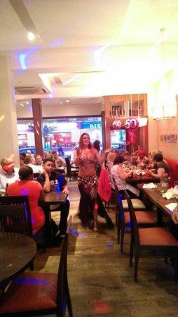 Ephesus Mediterranean Grill & Meze Bar: Belly dancer