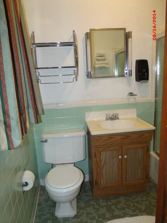 Carthage MO Best Budget Inn Room 107 Bathroom