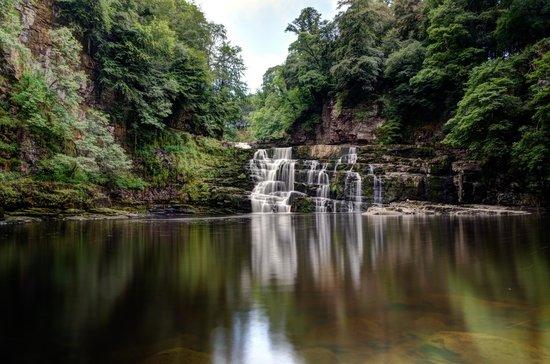 Falls of Clyde: The pool at the foot of the Corra Linn Falls at New Lanark