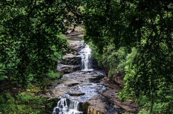Falls of Clyde: Corra Linn Falls at New Lanark