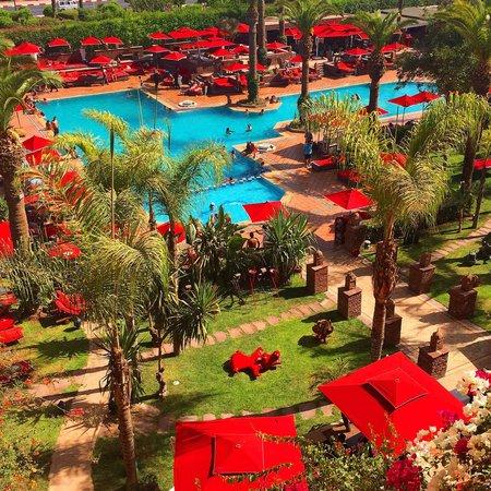 Sofitel Marrakech Palais Imperial: Vue de ma chambre n. 420 (suite junior vue montagne)