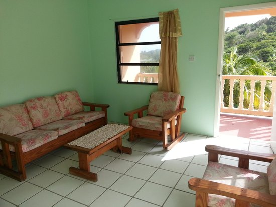 Gingerland, Nevis: SECOND FLOOR. The outstanding view from the lounge in both apartments gives you a real feeling o