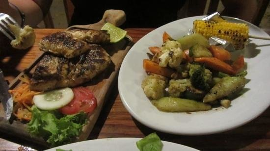 Argentinian Grill: Grouper and grilled veggies...
