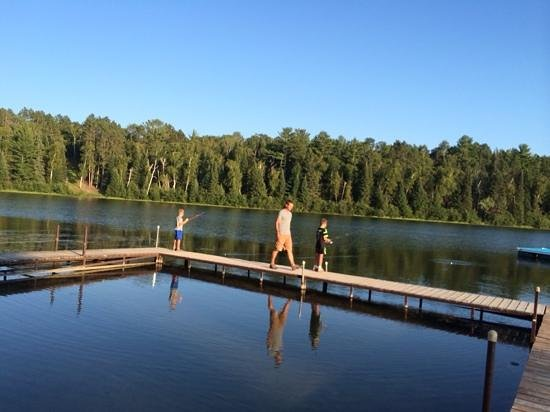 Sleeping Fawn Resort & Campground: fishing at the dock