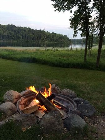 Sleeping Fawn Resort & Campground: the firepit